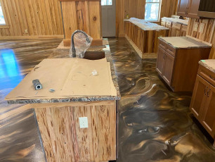 Marble Metallic Epoxy Floor