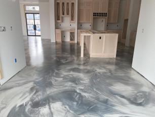Metallic Marble Epoxy Floor-6