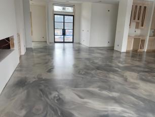 Metallic Marble Epoxy Floor-5