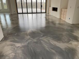 Metallic Marble Epoxy Floor-2
