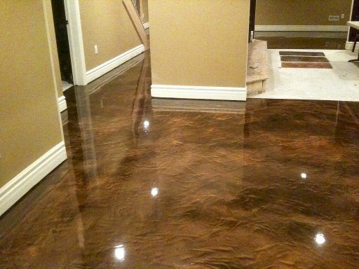 Epoxy floor coatings glossy floors for Concrete floor coatings