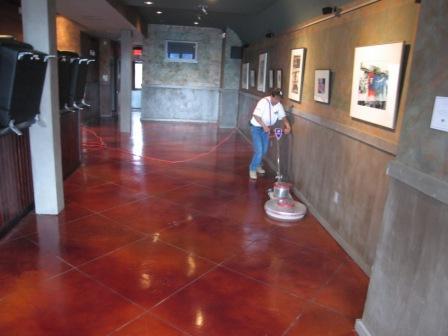 Polished concrete comparison chart glossy floors for Polished concrete maintenance