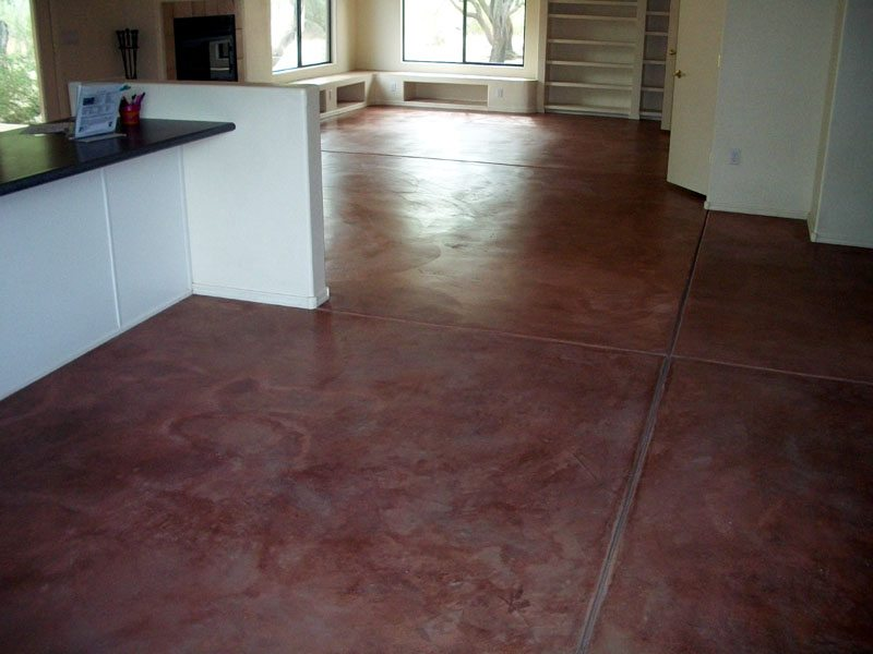 Stained concrete gallery glossy floors for Polished concrete floors