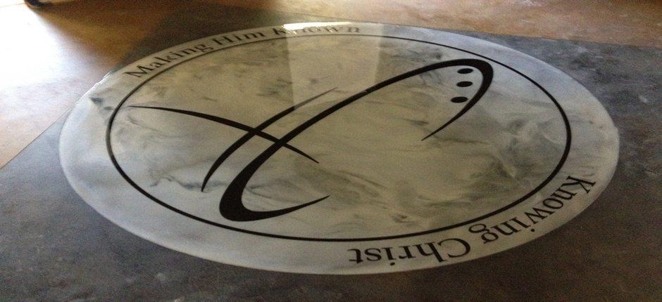 Catalyst Church Logo In Epoxy