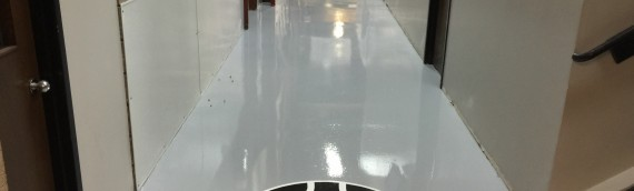 Industrial Epoxy Floor With Logo