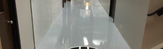Industrial Epoxy Floor With Logo