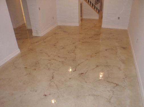 Epoxy Flooring White Glossy Floors