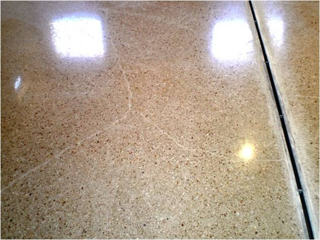 Can Cracked Concrete Polished