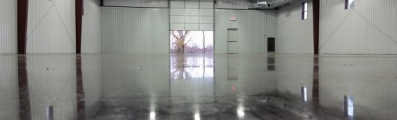 Commercial Stained Polished Concrete Slab
