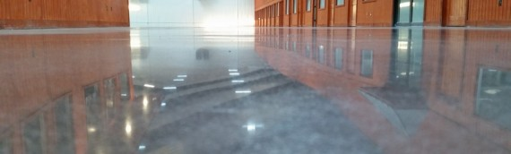 Stained Polished Concrete Showroom Floor