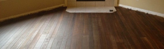 Diagonal Concrete Wood Floor