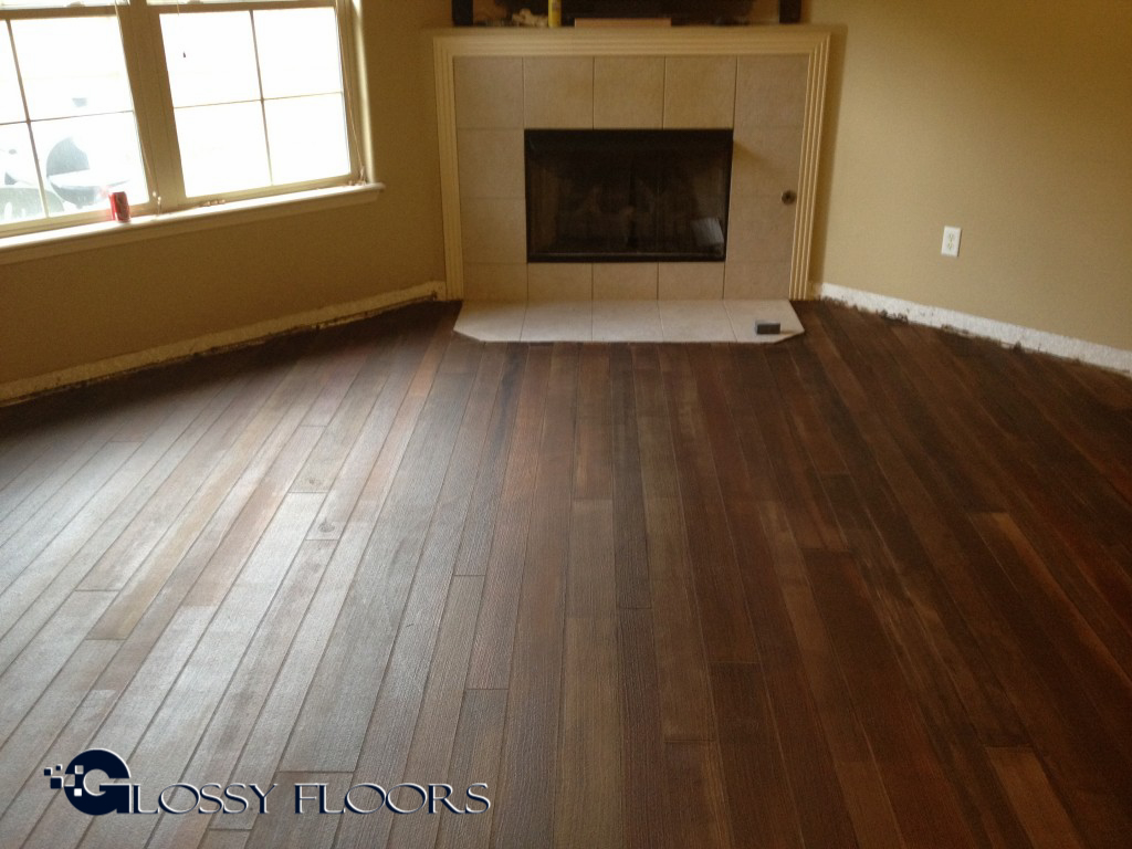 Concrete Wood Floors : Diagonal concrete wood floor