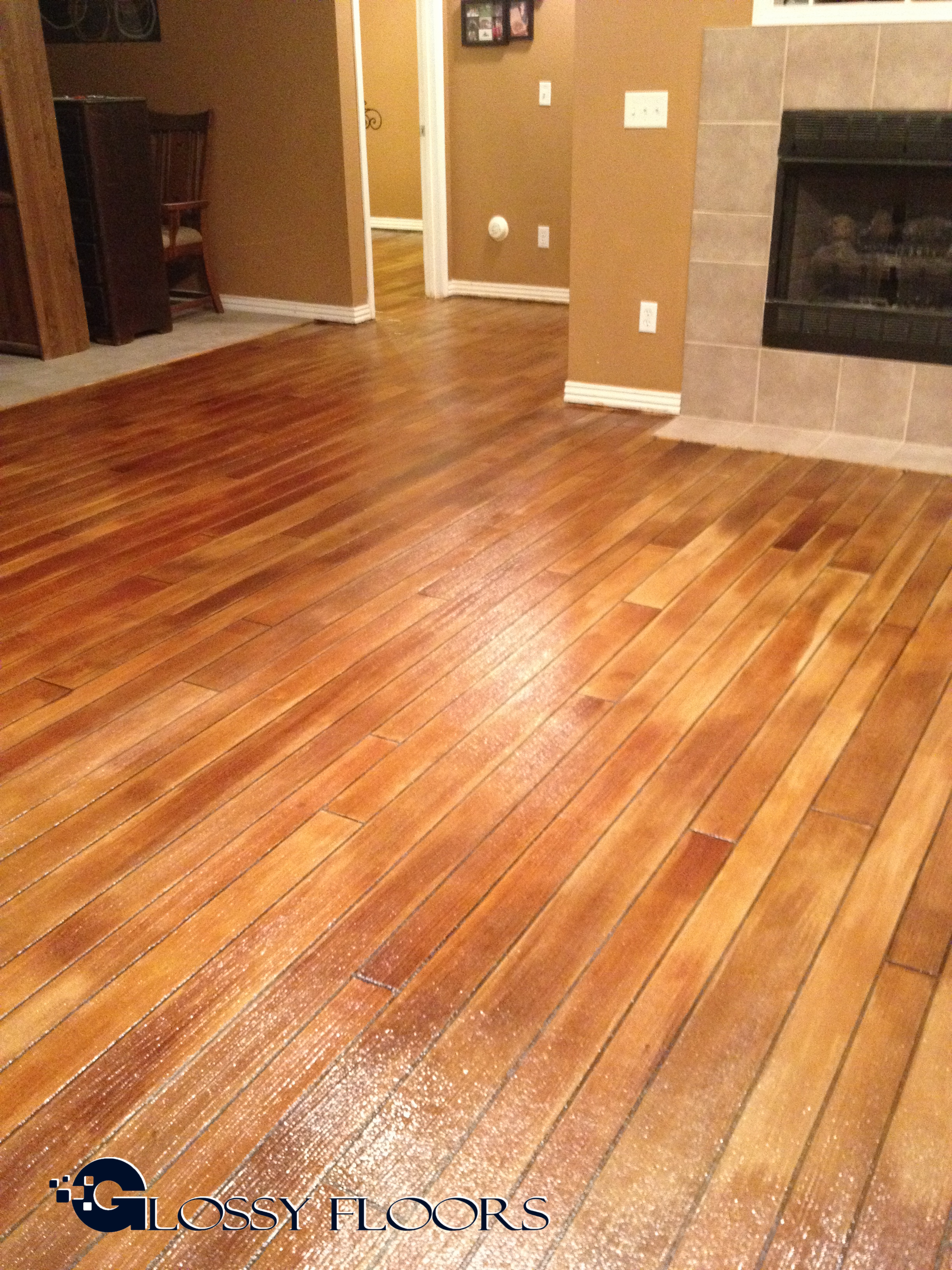 Concrete Wood Floors Concrete Floors That Look Like Wood Glossy Floors