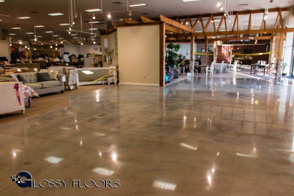Ashley Furniture - Bossier City - Polished Concrete