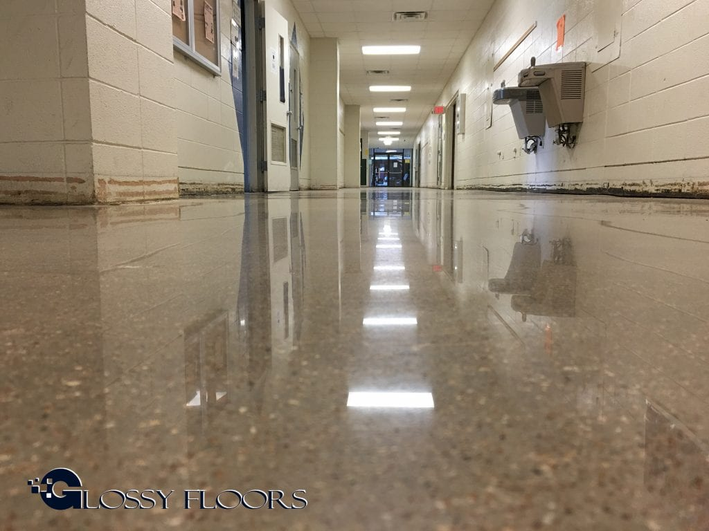 Polished Concrete Floors - Mountain Home High School-30