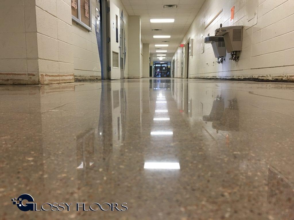 Polished Concrete Floors - Mountain Home High School-30