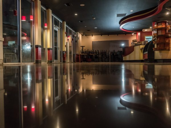 Stained Polished Concrete Flooring
