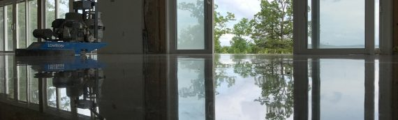 Stained Polished Concrete House Floor
