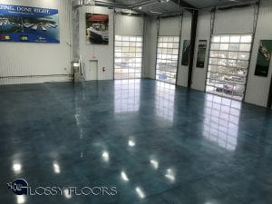 Stained Polished Concrete ShowroomFloor