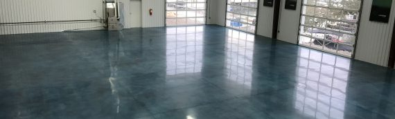 Stained Polished Concrete Showroom