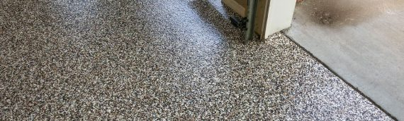 Epoxy Flakes On A Garage Floor