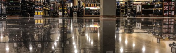 Glossy Floors Polishing Concrete For Cabela's/Bass Pro Shops Combo Store in Rogers, AR