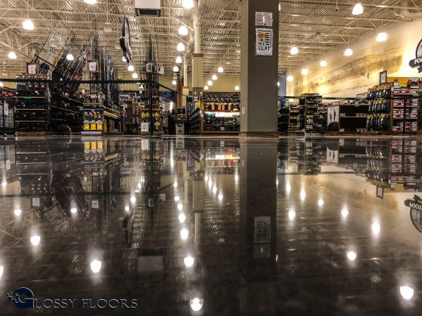 Bass Pro Shops in Rogers, AR Polished Concrete Floor
