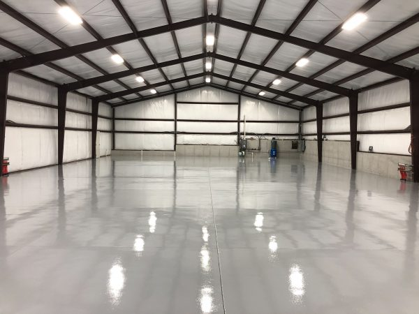 Industrial Strength Epoxy on Airport Hangar Floor