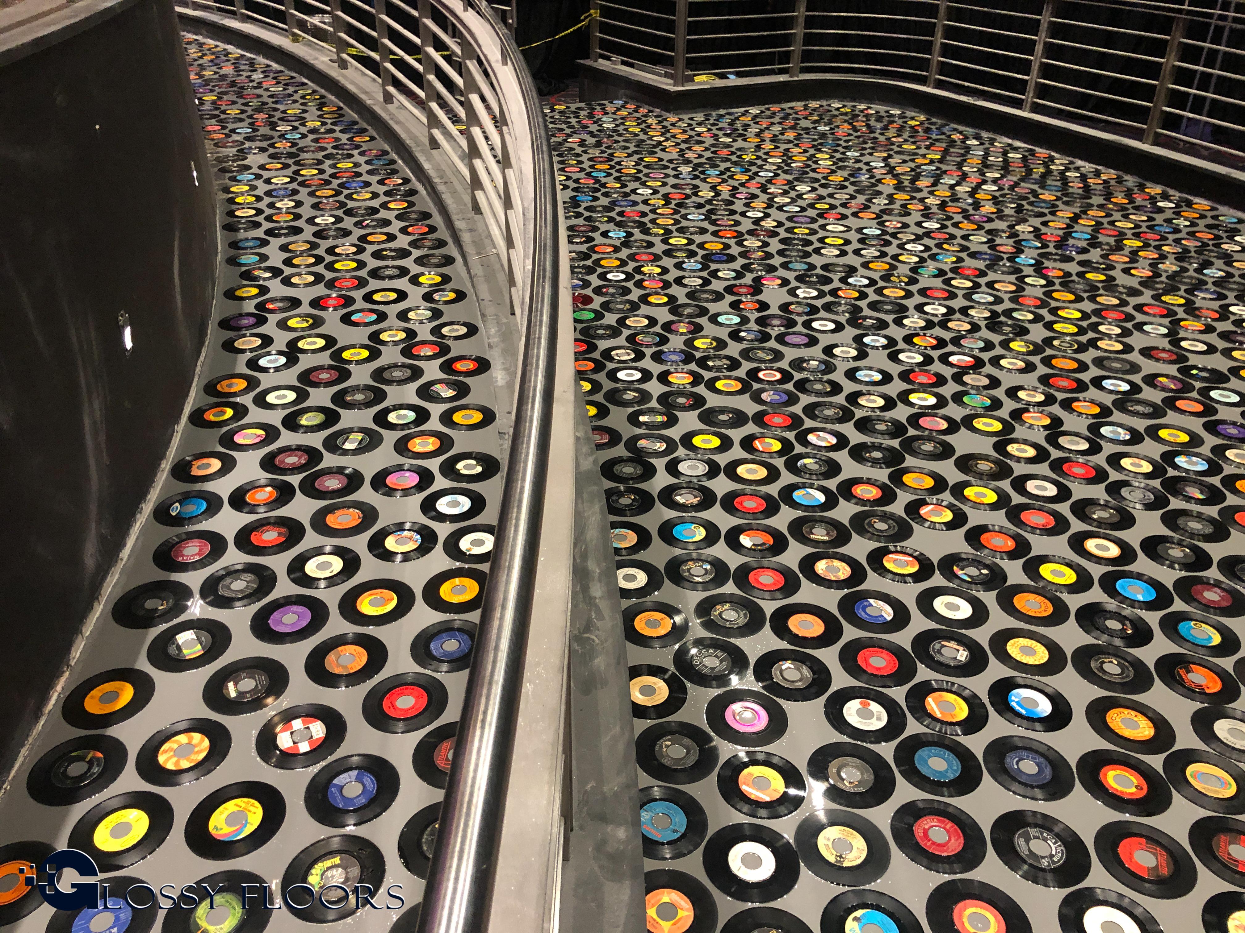 Hard Rock Hotel Epoxy Record Floor