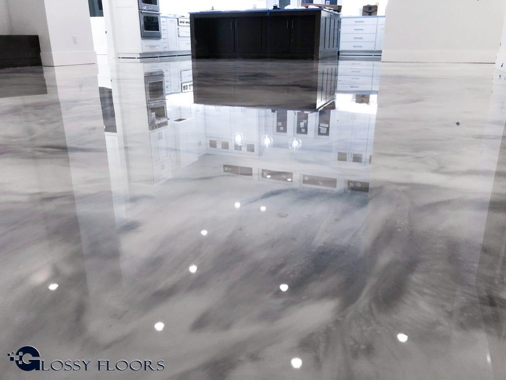 Metallic Marble Epoxy Floor From Glossy Floors Polished Concrete And Epoxy Flooring Of Northwest Arkansas