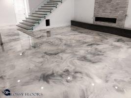 Metallic Marble Epoxy Floor