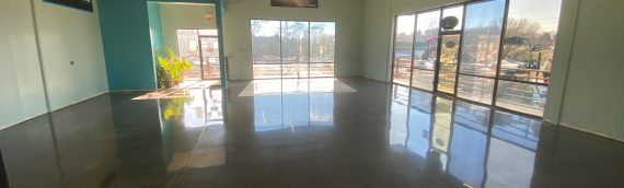 Polished Concrete Boat Showroom Floor