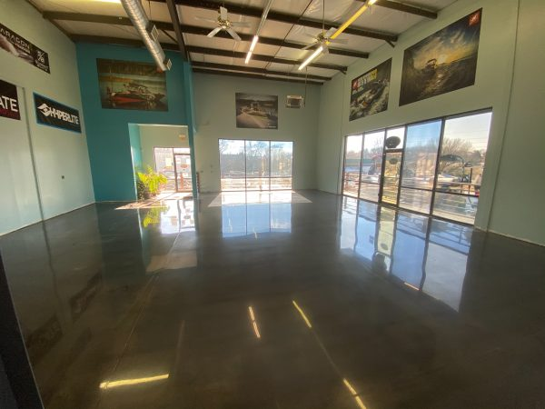 Kansas City Polished Concrete Showroom Floor