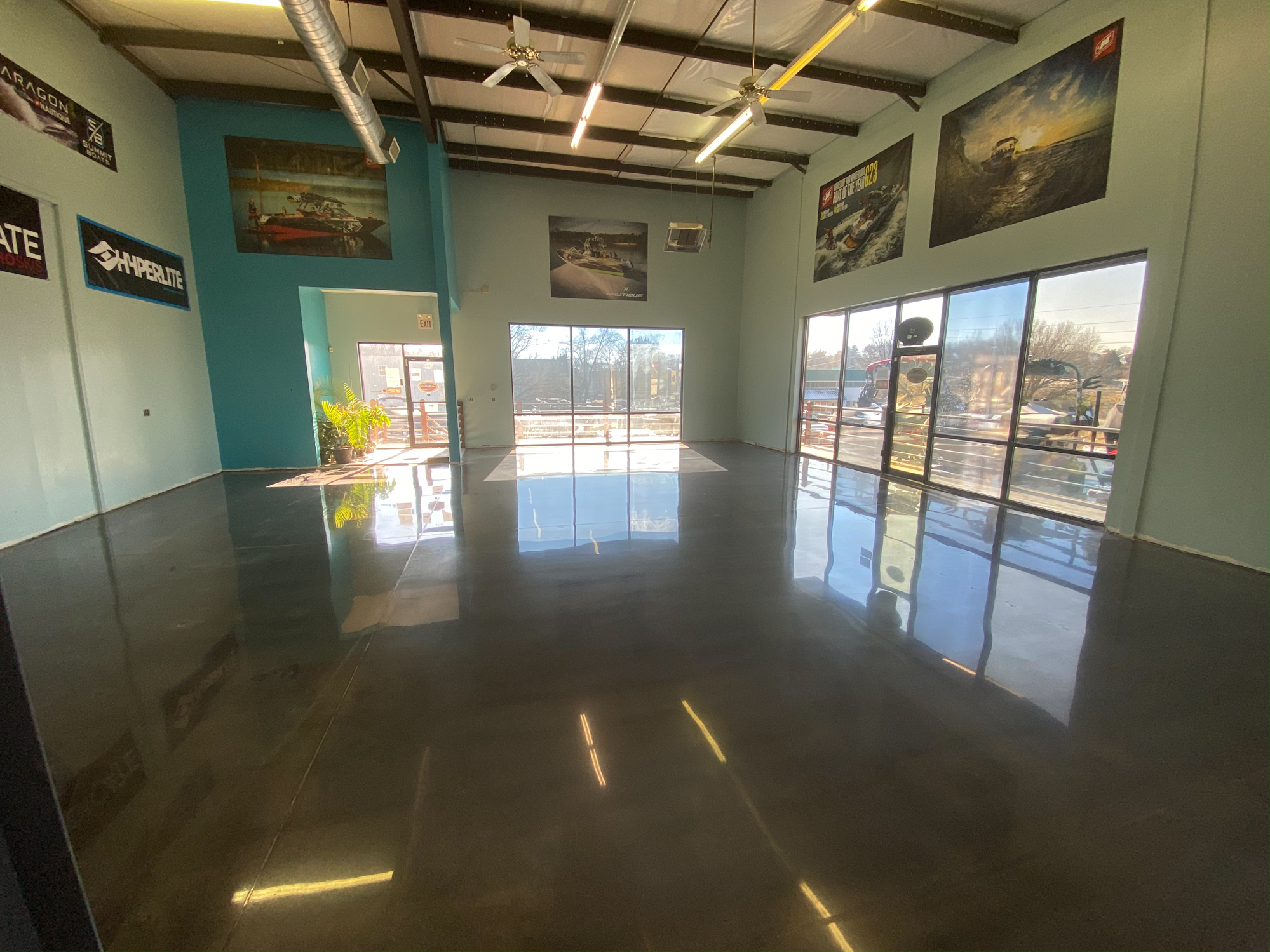 Kansas City Polished Concrete Showroom Floor