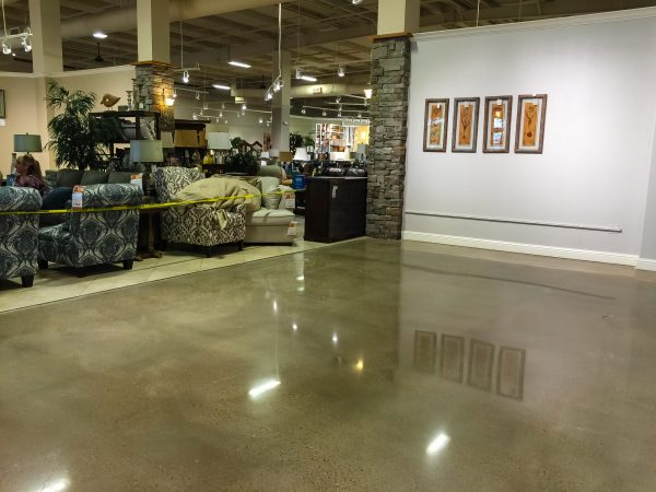 Joplin Polished Concrete Showroom Floor