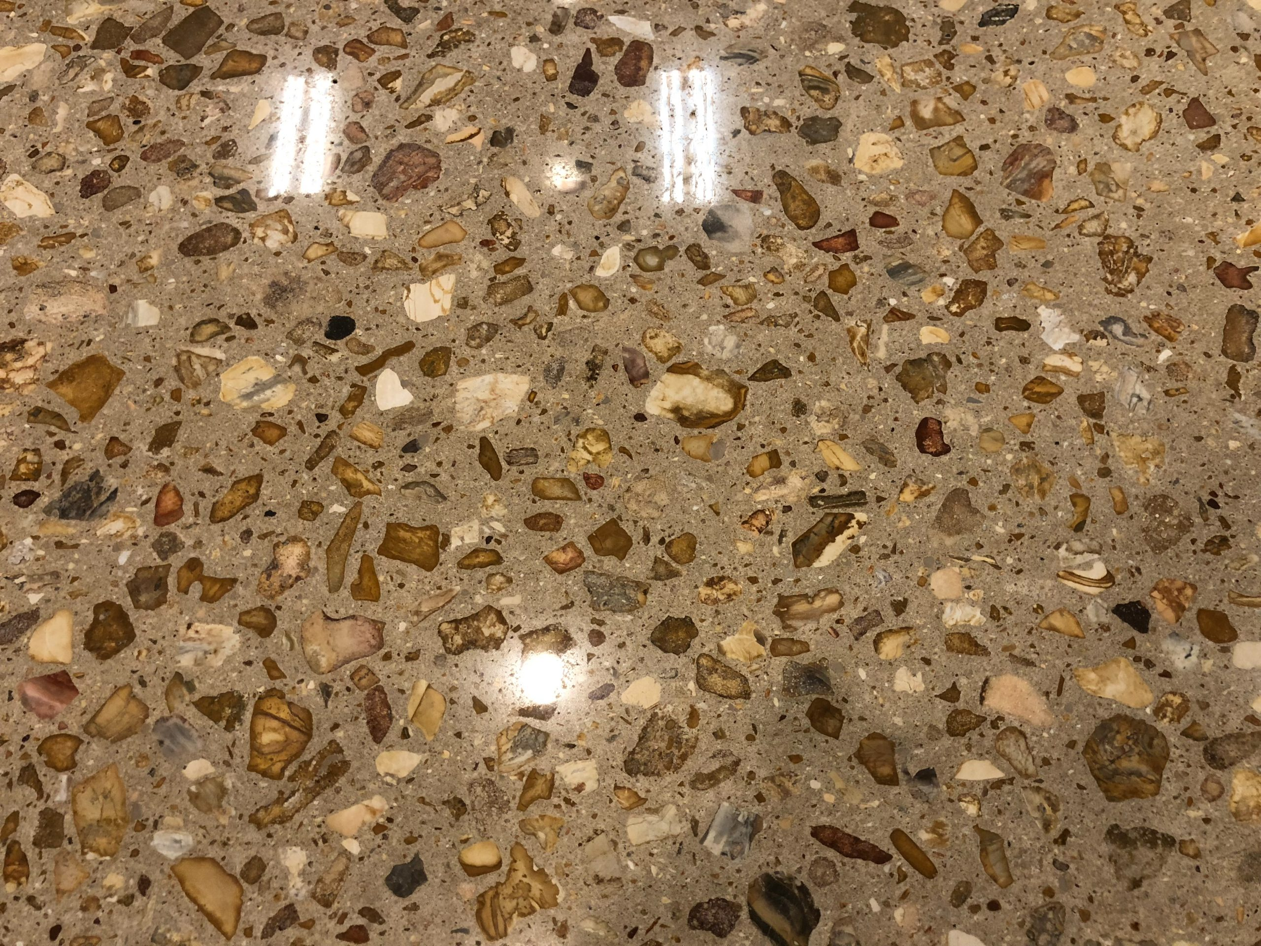 Exposed Aggregate Polished Concrete Better Than Terrazzo Since