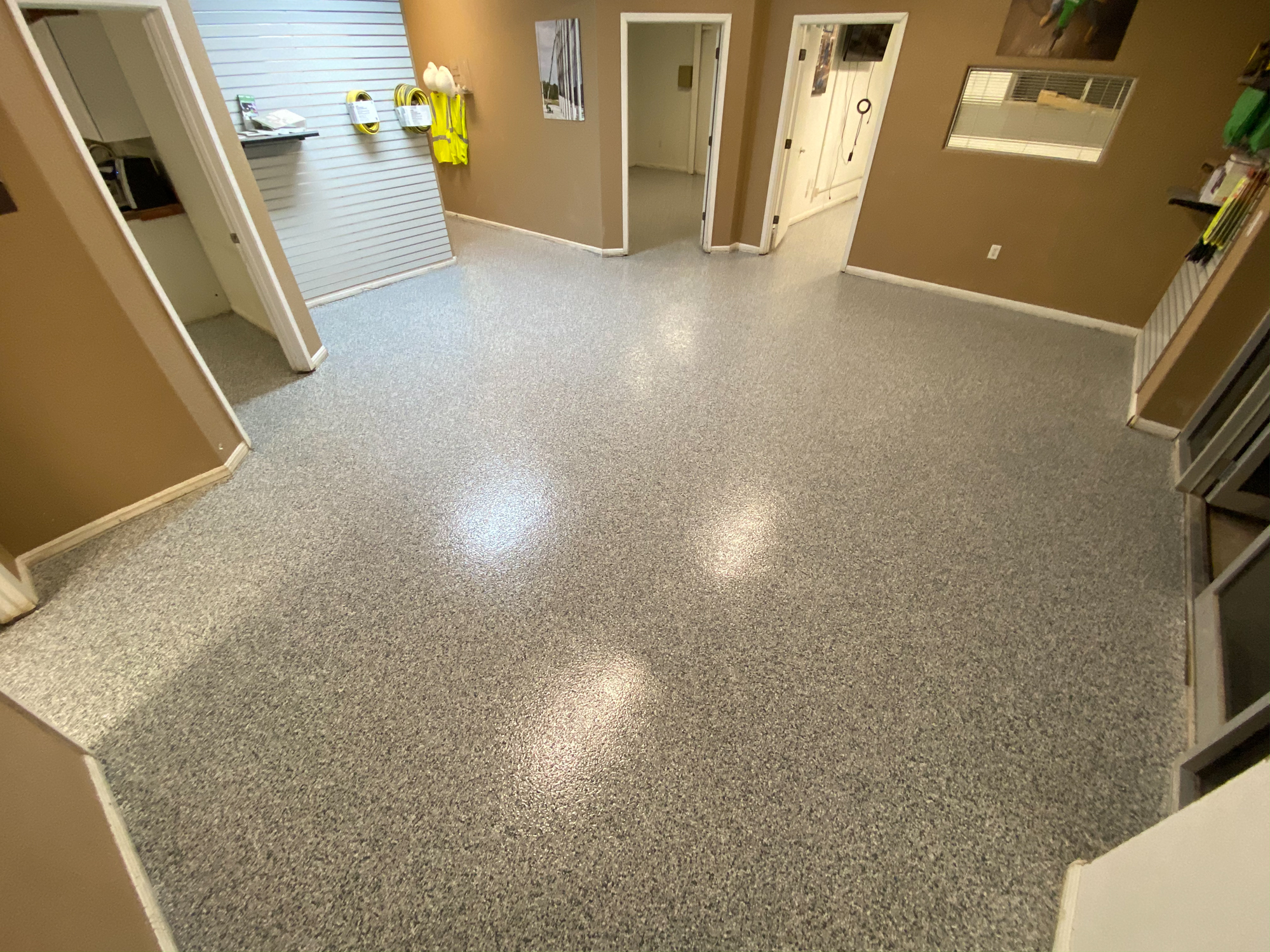 Commercial Epoxy Flake Floor in New Braunfels, Texas