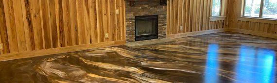 Rustic Marble Metallic Floor